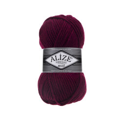 Пряжа Alize Superlana maxi цвет бордо 495
