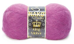 Пряжа King moher Nako цвет 2923 цикламен